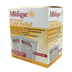 MEDI FIRST Multi Symptom Cold Relief Coated Tablets 250 Box 6 Boxes MS71142 $103.95