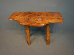 Quality Rustic Custom Bench Made Slab Log Table H:28