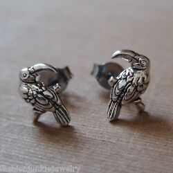 Toucan Earrings - 925 Sterling Silver - Amazon Parrot Bird Tropical Posts NEW