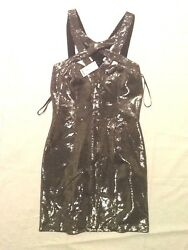 BEBE Cocktail Women#x27;s Bodycon Dress Medium GOLD NEW W TAGS $75.00