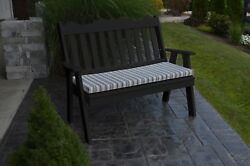 Poly Furniture Wood 5 Foot ROYAL ENGLISH GARDEN BENCH *BLACK COLOR*