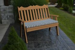 Poly Furniture Wood 5 Foot ROYAL ENGLISH GARDEN BENCH *CEDAR COLOR* 5 Ft Bench