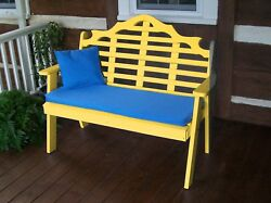 Poly Furniture Wood 5 Foot  MARLBORO GARDEN BENCH *YELLOW COLOR* 5 Ft Bench