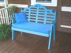 Poly Furniture Wood 5 Foot  MARLBORO GARDEN BENCH *ARUBA BLUE* 5 Ft Bench