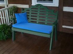Poly Furniture Wood 5 Foot  MARLBORO GARDEN BENCH *TURF GREEN COLOR* 5 Ft Bench