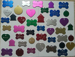 CUSTOM ENGRAVED DOG PET TAG SINGLE SIDE PERSONALIZED ID DOG CAT CHARM TAGS $3.97