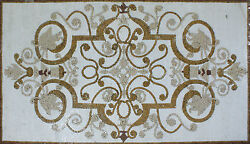 Royal Chandelier Design Floor Carpet Home Decoration Marble Mosaic CR1098