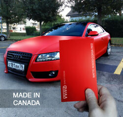 Matte Rosso Corsa Red car wrap 100ft x 5ft VViViD XPO film vinyl sticker sheet
