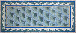 Sea Ocean Wave Ripple Green Blue Passion Marble Mosaic CR1087