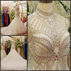 YZ Beads Crystal Sexy Diamond Wedding Dresses  VXVS