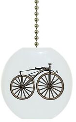 Vintage Bicycle Solid CERAMIC Ceiling Fan Light Lamp Pull $6.17