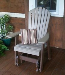Fanback Adirondack GLIDER CHAIR *TWO TONE COLORS * TWO COLOR GLIDER CHAIR