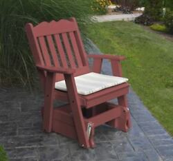 Poly 2 Ft Single ROYAL ENGLISH GLIDER CHAIR *CHERRY WOOD COLOR* MADE IN USA