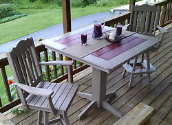 Poly Lumber Wood Patio Set- 44