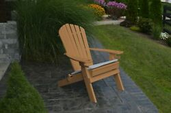 NEW DELUXE 7 SLAT Poly *HDPE* Wood Folding Adirondack Chair CEDAR -2 Cup Holders