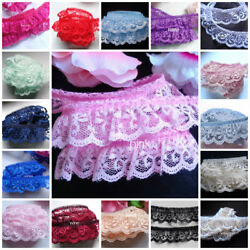 Ruffle Lace Trim 1 inch wide select color selling by the yard $1.39