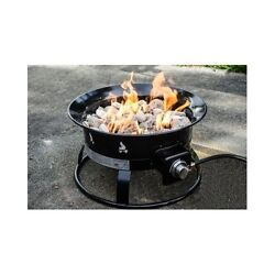 Fire Rock Pit Portable Outdoor Propane Camping Tailgating Patio Deck Pool Beach