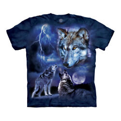 The Mountain Wolves of the Storm Adult Unisex T Shirt $18.70