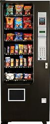 Candy Chip & Snack Vending Machine 24 Select AMS Vendor + Coin & Bill Changer