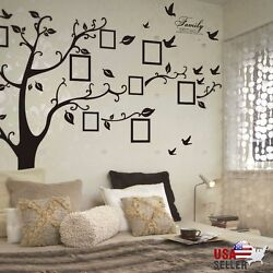 Family Tree Wall Decal Sticker Large Vinyl Photo Picture Frame Removable Black $14.99