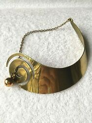 ART SMITH BRASS NECKLACE - EXCEPTIONALLY RARE MODERNIST MID CENTURY!!!