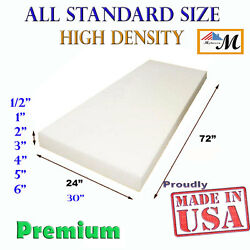 High Density Upholstery Seat Foam Cushion Replacement Per Sheet Standard Sizes $21.99