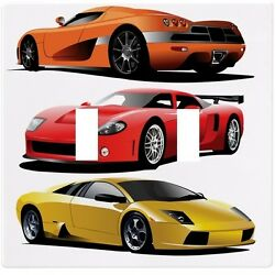 Sports Cars Red Yellow Orange Wall Plate Decorative Light Switch Plate Cover