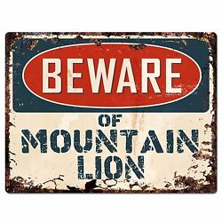 PP1325 Beware of MOUNTAIN LION Plate Rustic Chic Sign Home Room Store Decor Gift $19.95