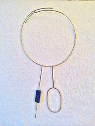 BETTY COOKE LAPIS LAZULI SILVER MODERNIST MID CENTURY NECKLACE - RARE!!!
