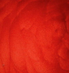 Crimson Red Wool Top Roving -Spin into Yarn Needle & Wet felt Crafts Weaving