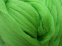 Apple Green Wool Top Roving -Spin into Yarn Needle & Wet felt Crafts Weaving