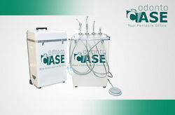 Odontocase Premium Portable Dental Unit with Folding Chair and Air Compressor