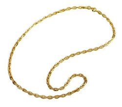 GAT Hawaiian Solid Gold anchor chain Necklace Sailor Jewelry