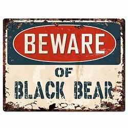 PP1820 Beware of BLACK BEAR Plate Rustic Chic Sign Home Store Wall Decor Gift $19.95