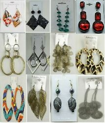 SU 96 Wholesale Jewelry lot 12 pairs Mixed Style Winter Fashion Earrings