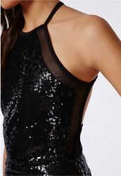 Women#x27;s Black Sequin Dress