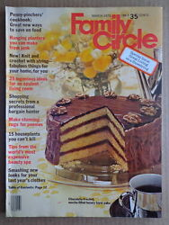 FAMILY CIRCLE magazine Mar 1976 Antique CHANDELIERS Rugs CHOCOLATE FROSTED CAKE $12.50