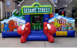 35x18x15 Commercial Inflatable Obstacle Course Bounce House Castle Slide Jump