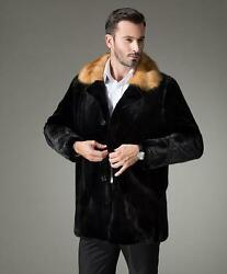 Mens Mink Fur Jacket Mink The whole skin cashmere Mink jacket Overcoat vest coat
