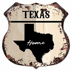 BP0158 HOME TEXAS MAP Shield Rustic Chic Sign Bar Shop Home Decor Gift $23.95