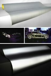 Vvivid Xpo Reflective Silver White Vinyl Car Wrap Decal