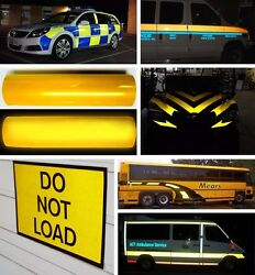 VVivid Reflective Yellow Vinyl Car Wrap Decal