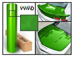 XPO Green Carbon Gloss VViViD stretch Tech art vinyl car wrap fiber sizes roll