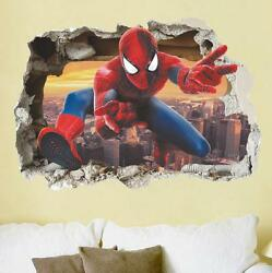 NEW 3D Spiderman Removable Wall Stickers Kids Home Decal room Decor USA $8.39