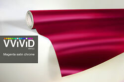 VVIVID8 Magenta chrome satin matte car wrap vinyl 40ft x5ft conform stretch 3MIL
