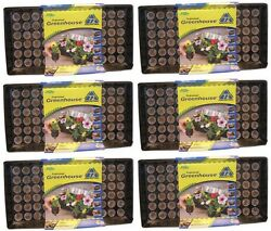 (6) ea Jiffy J372 Professional Greenhouse Seed Starting Tray Kits w 72 Jiffy 7s