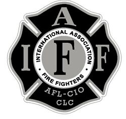 4quot; IAFF Decal Black and Silver Exterior Mount Please Read Auction