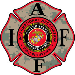 4quot; IAFF Decal Marines Exterior Mount Please Read Auction