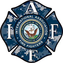 4quot; IAFF Decal Navy Exterior Mount Please Read Auction
