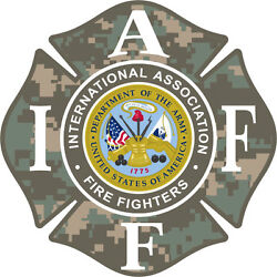 4quot; IAFF Decal Army Exterior Mount Please Read Auction